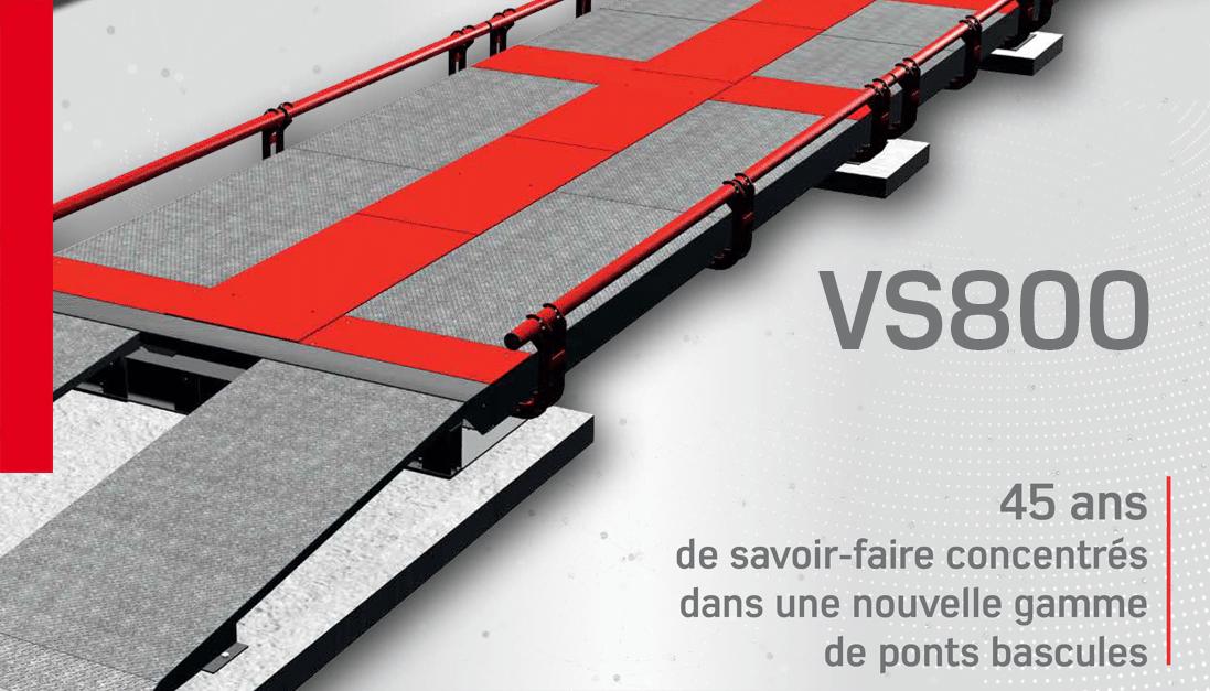 Ponts bascules nettoyables et transportables VS 800
